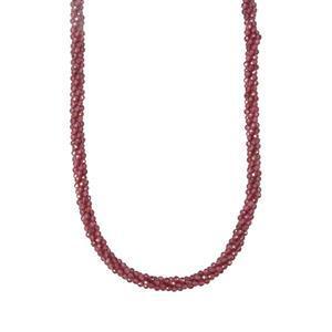 79.64ct Comeria Garnet Sterling Silver Bead Necklace