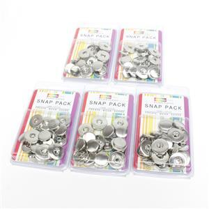 Mega Snaps! 5x Silver Plated Snap Pack 20x24mm (10pcs)