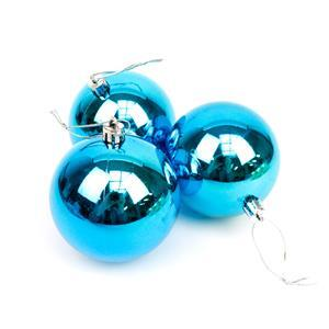 Teal Christmas Baubles Approx 8cm (3pk)