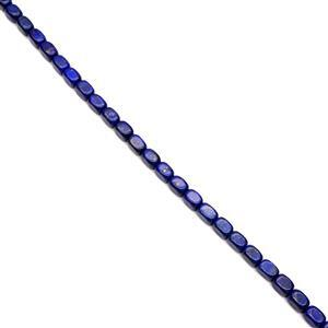 420cts Dyed Lapis Lazuli Tumbled Cuboids Approx 14x10mm, 38cm Strand