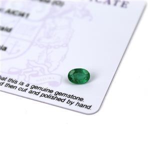 0.5cts Zambian Emerald 7x5mm Oval (O)