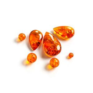 Baltic Cognac Amber Bead Pack - Mix shapes (7 pk)