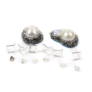 Embellished Baroque Pearl Earring Kit