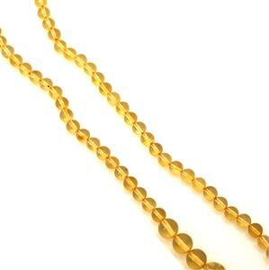 Baltic Lemon Amber Graduated Bead Strand, Approx 6-10mm 38cm