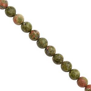 100cts Unakite Smooth Round Approx 8mm, 18cm Strand