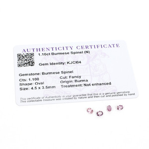 1.1cts Burmese Spinel 4.5x3.5mm Oval Pack of 4 (N)