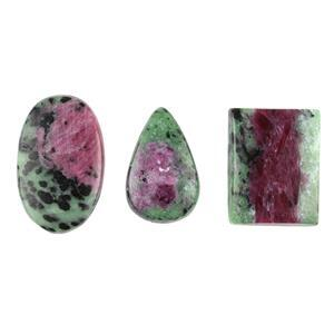 Ruby Zoisite Cabochons.