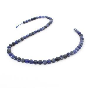 60cts Sodalite Faceted Coins Approx 6mm, 38cm Strand