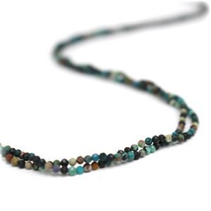 Double Trouble! 2x 8cts Chrysocolla faceted seed beads Approx 2mm, 38cm strand