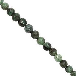 75cts Emerald Graduated Faceted Round Approx 4 to 7mm, 32cm Strand