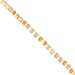 Orange Colour Coated Topaz Gemstone Strands
