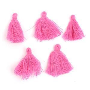 25mm Pink Tassels, 5pk