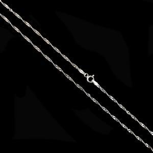 """925 Sterling Silver Diamond Cut Twisted Curb Chain with 1.8mm Link, 46cm/18"""""""