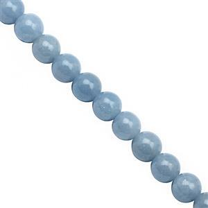 88cts Angelite Smooth Round Approx 6mm, 30cm Strand