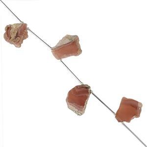 Rhodochrosite Gemstone Strands