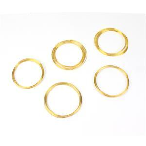Memory Wire Bracelet Pack - Gold Colour (5pk)