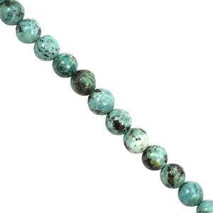 105cts Turquoise Smooth Round Approx 7 to 8mm, 28cm Strands
