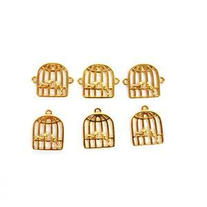 Black Friday Special! Gold Plated 925 Sterling Sliver Love Bird Cage! Charms & Connectors.