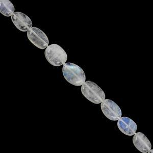 50cts Rainbow Moonstone Smooth Oval 7x5 to 12.50x8mm, 20cm Strand