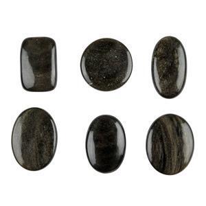 Golden Obsidian Cabochons
