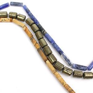 Tubes! Inc; Picture Jasper, Pyrite & Sodalite