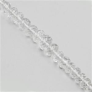 20cts Himalayan Beryl Graduated Faceted Rondelles Approx 3x1.5 to 7x4mm, 9cm Strand