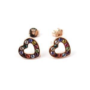 Earrings  in Rose Gold Flash Sterling Silver