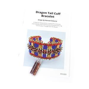 Twin Peaks; 2x Czechmates Triangles 6mm Approx. 8.9G & Dragon Tail Cuff Bracelet Booklet
