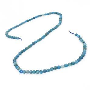 30cts Apatite Faceted Coins Approx 4mm, 38cm Strand