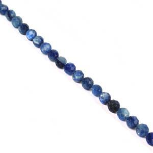 80cts Kyanite Faceted Rounds Approx 7.5mm, 19cm Strand