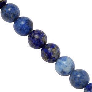 200cts Lapis Lazuli Plain Rounds Approx 8mm, 37cm Strand.