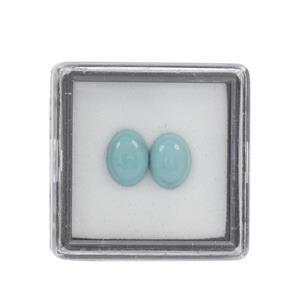 1.40cts Sleeping Beauty Turquoise Cabochon Oval Approx 8x6mm Loose Gemstone (Pack of 2)