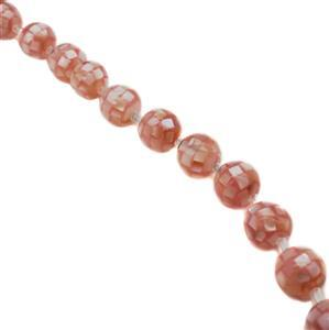 Pink Mosaic Shell Pearls Rounds Approx 10mm, (15pcs)