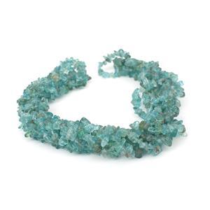 650cts Sky Blue Apatite Small Nugget Chips Approx 4x7 to 5x8mm, 250cm