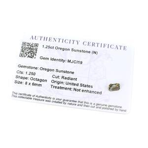 1.25cts Oregon Sunstone 8x6mm Octagon  (N)