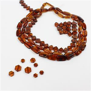 Baltic Cognac Amber Bead Mega Bundle! Variety of shapes and Sizes
