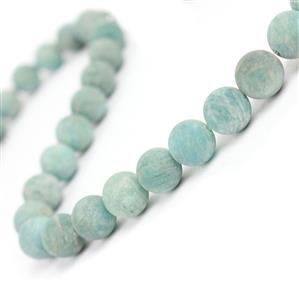 260cts Multi Russian Amazonite Matt Plain Rounds Approx 10mm, 38cm strand
