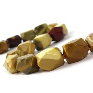 680cts Multi Mookite Faceted Nuggets Approx15x20mm, 38cm Strand