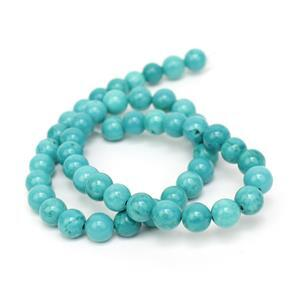 170cts Turquoise Plain Rounds Approx 8mm 38cm
