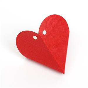 White Silk Heart Shaped Mini Gift Box 65mm 5pk