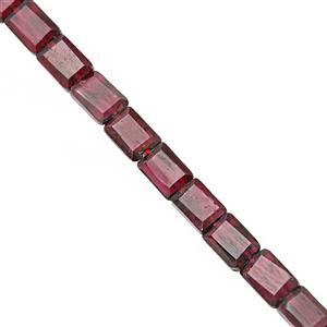 55cts Rhodolite Garnet Faceted Rectangle Approx 5.5x4 to 6.5x5mm, 31cm Strand