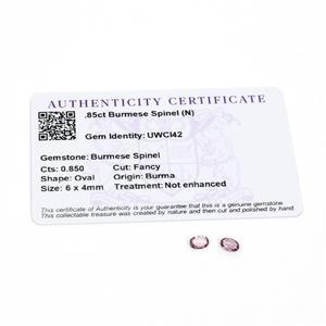0.85cts Burmese Spinel 6x4mm Oval Pack of 2 (N)