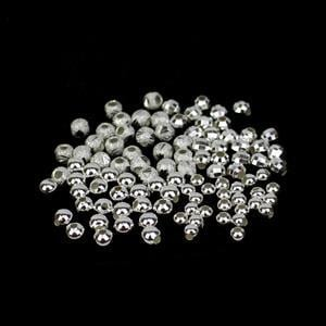 925 Sterling Silver Spacer Bead Bundle 4 Designs - 100pcs (3 & 4mm Rounds, 4mm Cut Stardust & 4mm Faceted)