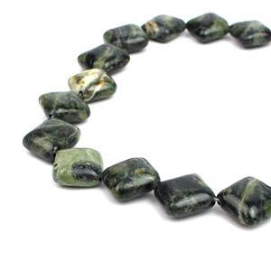 200cts Kambaba Jasper Puffy Diamonds Approx 12mm, 38cm