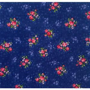 Trachten Rosen Blue Fabric 0.5m