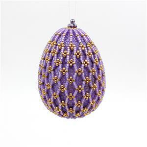 Lovely Lilac Beaded Easter Egg Kit