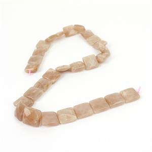 240cts Sunstone Faceted Squares Approx 14mm, 38cm Strand