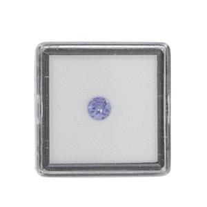 0.35cts Tanzanite Brilliant Round Approx 5mm Loose Gemstone (1pc)