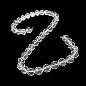 210cts Clear Quartz Faceted Lantern Beads Approx 9mm, 38cm Strand