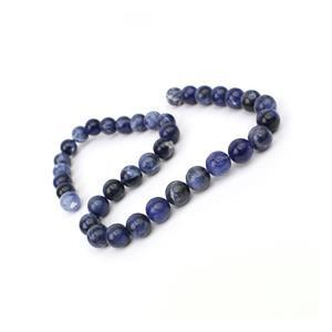 240cts Sodalite Plain Rounds Approx 10mm, 38cm Strand